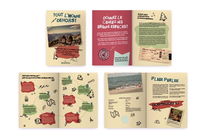 Brochure pour promouvoir les parcs provinciaux du Nouveau-Brunswick