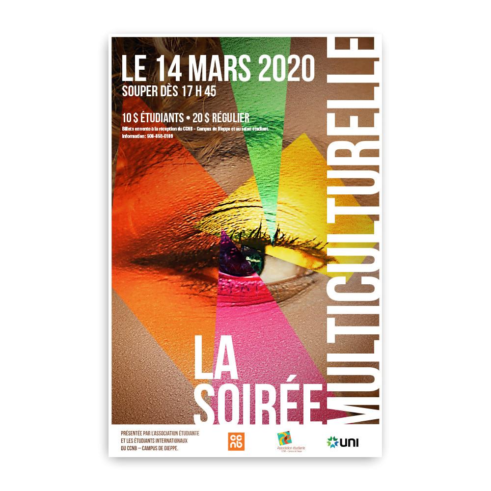 Affiche pour une soirée multiculturelle