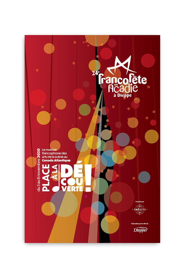 Affiche pour la FrancoFête en Acadie
