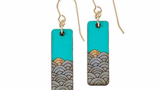 Sunrise Wood Earrings