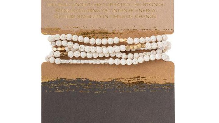 White Lava Wrap Bracelet