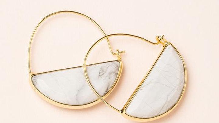 Howlite Prism Earrings