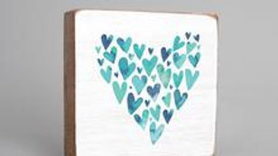 Watercolor Hearts Block