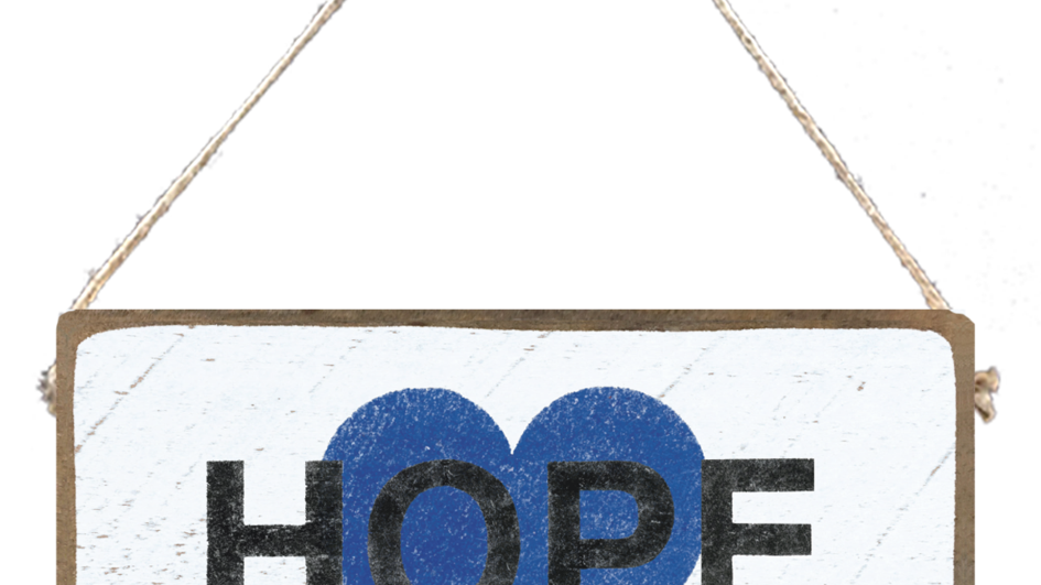 Hope Plank Sign