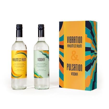 Emballage pour bouteilles de vodka et de rhum