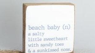 Beach Baby Plaque