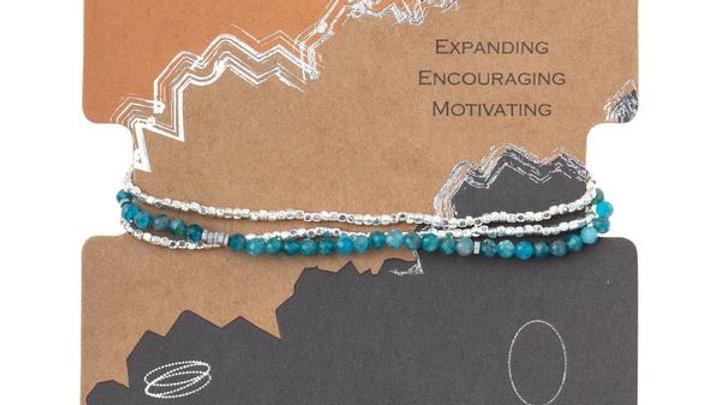 Delicate Apatite Wrap Bracelet