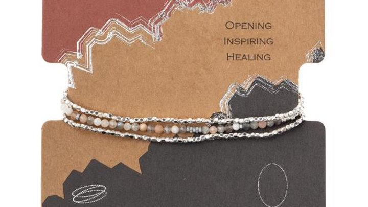 Delicate Moonstone Wrap Bracelet