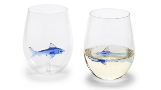 Shark Stemless Glass