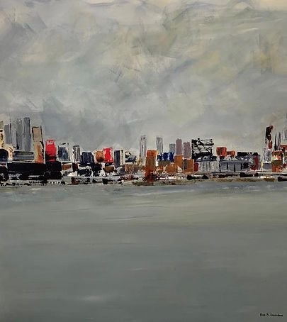 City scape painting