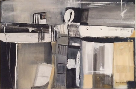 shades of grey abstract painting