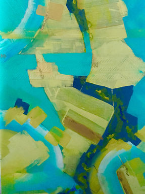 abstract painting of Dubai from the air
