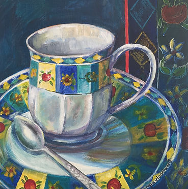 cup and saucer still life