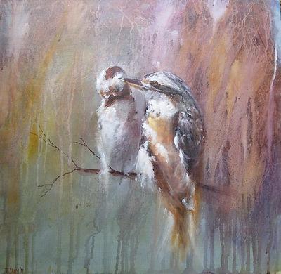 pair of kookaburra painting