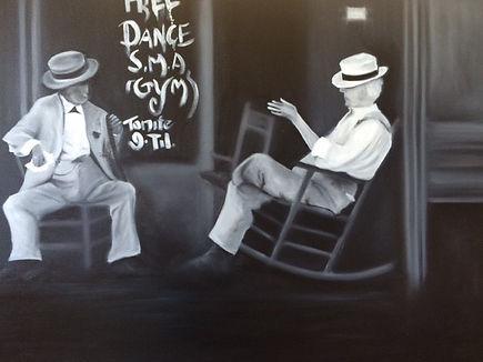 Black & white oil old men