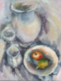 still life fruit bowl painting
