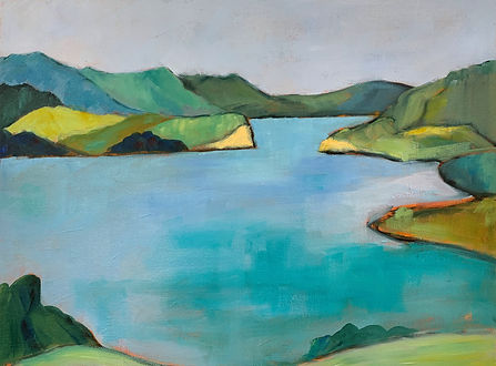 Mahurangi oil painting