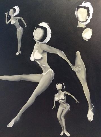 black and white oil dancer