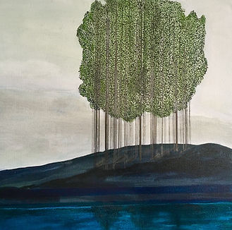 Architectural Trees painting