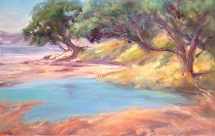 Coromandel coast landscape painting