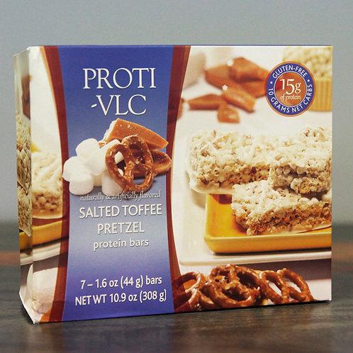 Salted Toffee Pretzel Protein Bars