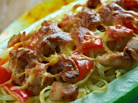 Spaghetti Squash And Baked Chicken