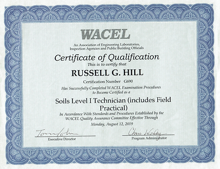 WACEL soil technician certification