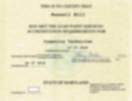 MDE lead inspector technician license