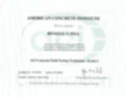 ACI concrete field technician certification