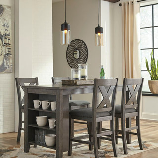 ASHLEY CAITBROOK GRAY COUNTER DINING SET