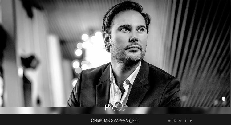 Chistian Svarfvar in deep thought