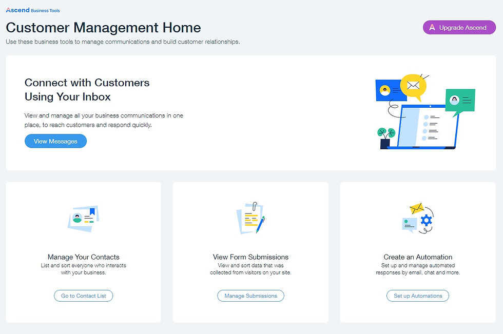 Wix Ascend for business
