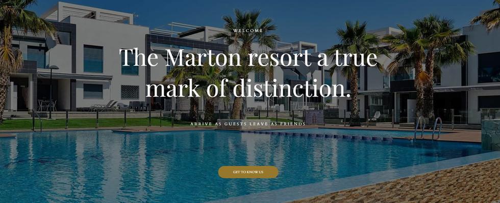 The Marton Hotel Web Design