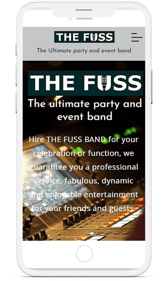 The Fuss Band on mobile