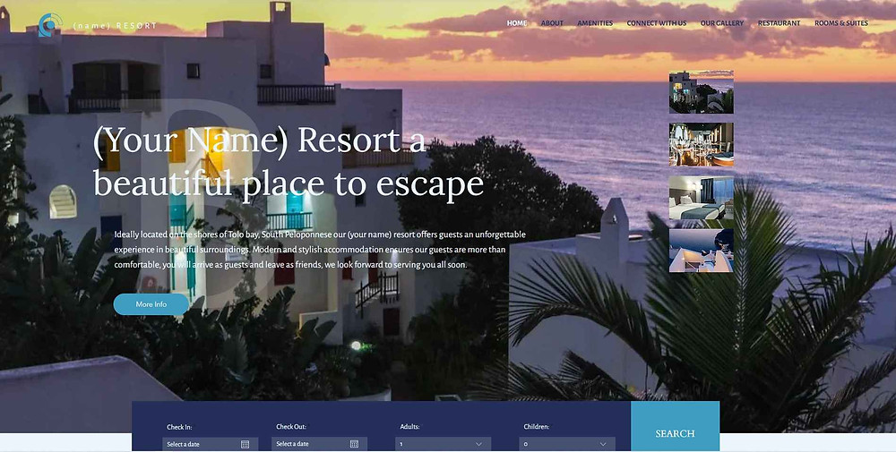 Showcase your property with a stunning web design in Editor X and promote it globally with Little Hotelier you will never miss a booking opportunity again!