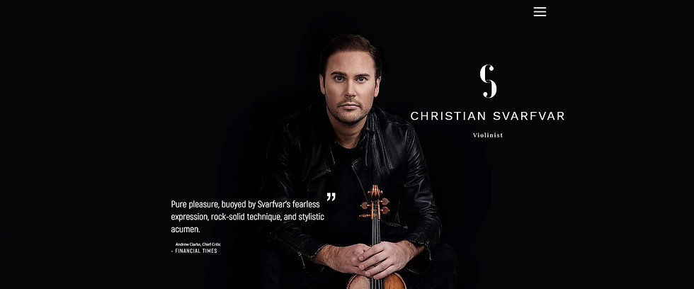 Swedish International Violinist Christian Svarfvar