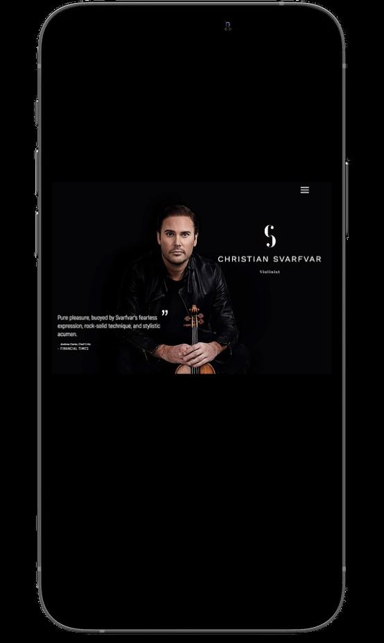 Christian Svarfvar on mobile