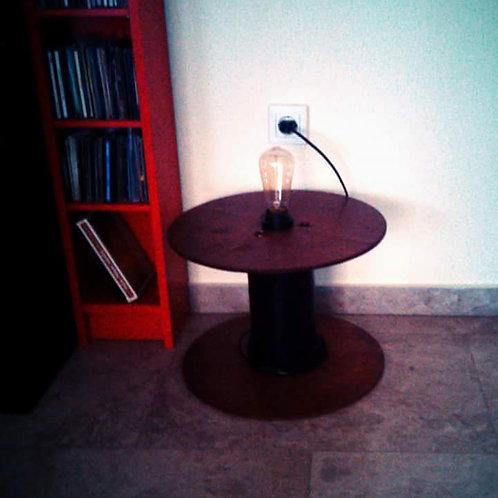 Old Spool Floor Lamp