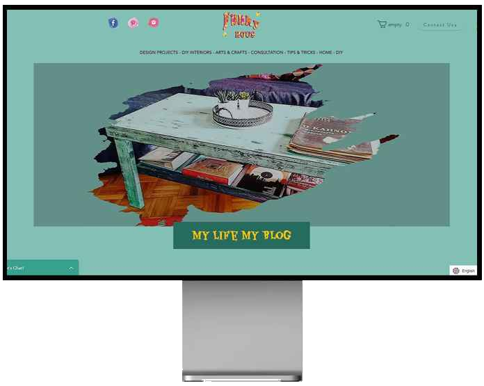 Funkyhous furniture co, desktop view