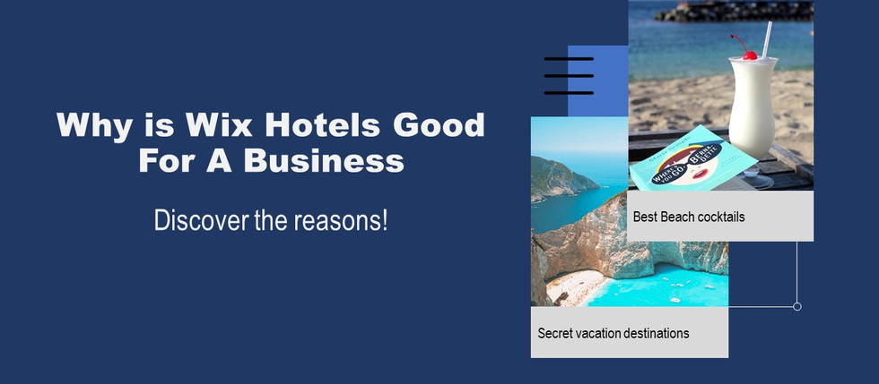 Wix Hotels for Small Hospitality Businesses!