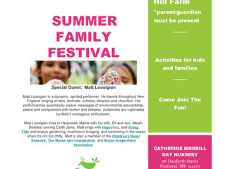 JOIN US: SUMMER FAMILY FESTIVAL!
