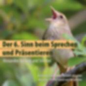Postkarte mit Singvogel und Workshop-Titel