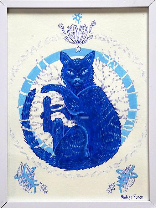 Le Chat bleu de Nadège Feron