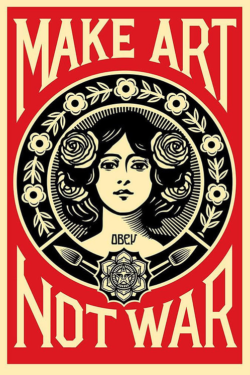 Lithographie offset OBEY - Not war