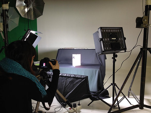 Demi journée de location studio photo video
