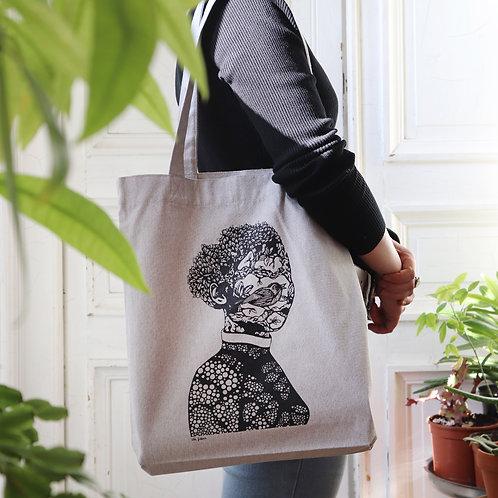 Tote-bags sérigraphiés par Chloé Guillermin