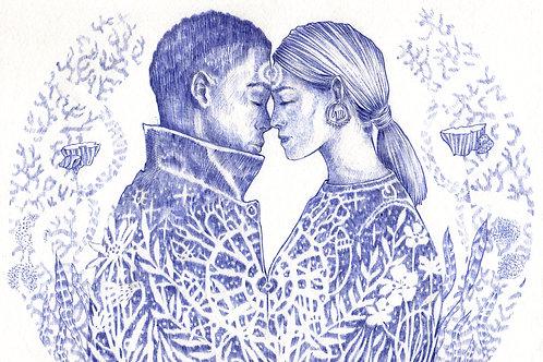Les amoureux par Nadège Fèron