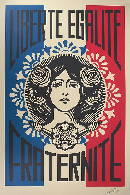 Lithographie offset OBEY - Liberté