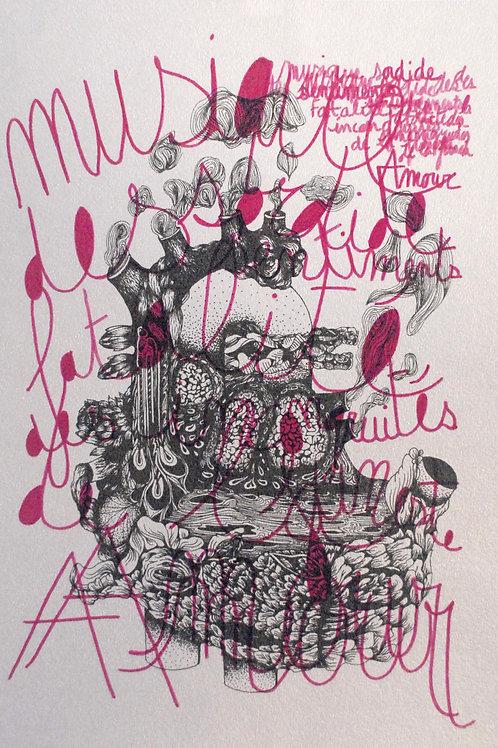 Sérigraphie de Chloé Guillermin