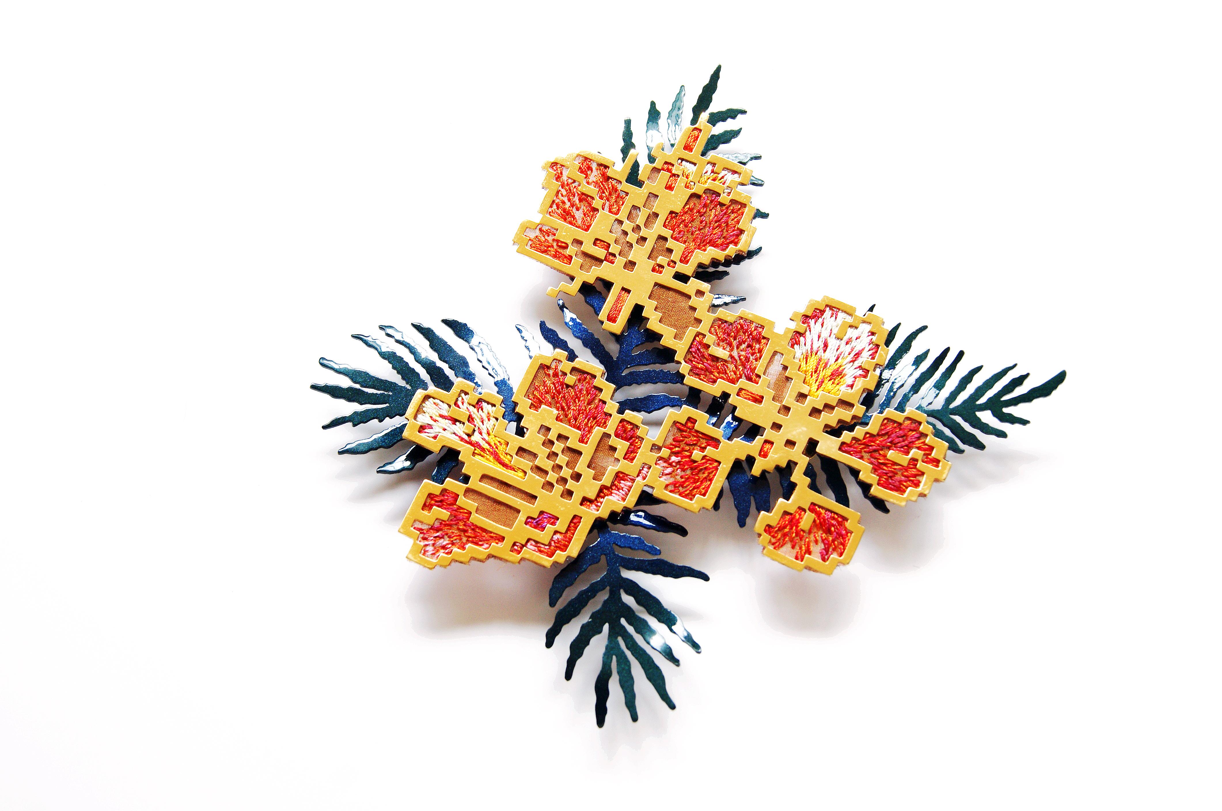 島嶼映花-鳳凰花Floral Print of Formosa- Hen